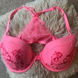 Victoria Secret Front Clasp Lace Racer Back Bra